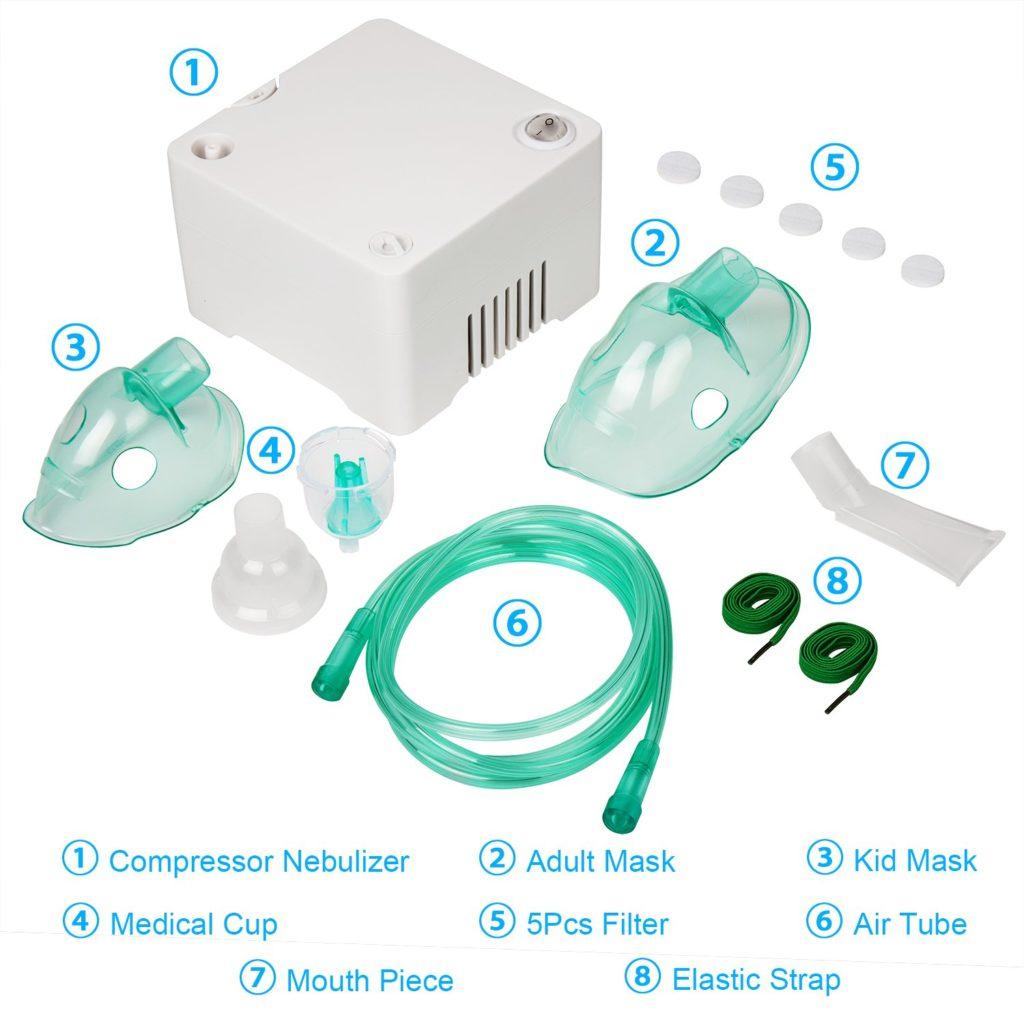 NEARTOP Air Compressor Personal Cool Mist Inhaler 4