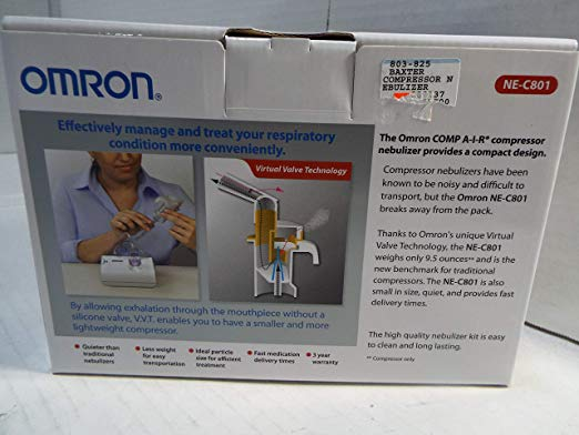 Omron NE-C801 CompAIR Compressor Nebulizer 3