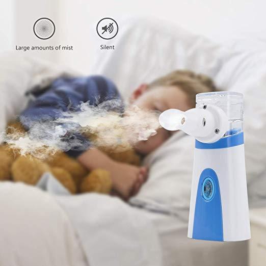 Pricare Portable Handheld BlueWhite Ultrasonic Mesh Inhaler 5